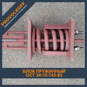 Блок пружинный ОСТ 34-10-743-93